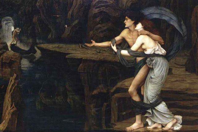 John Roddam Spencer Stanhope - Orpheus and Eurydice on the Banks of the Styx.jpg