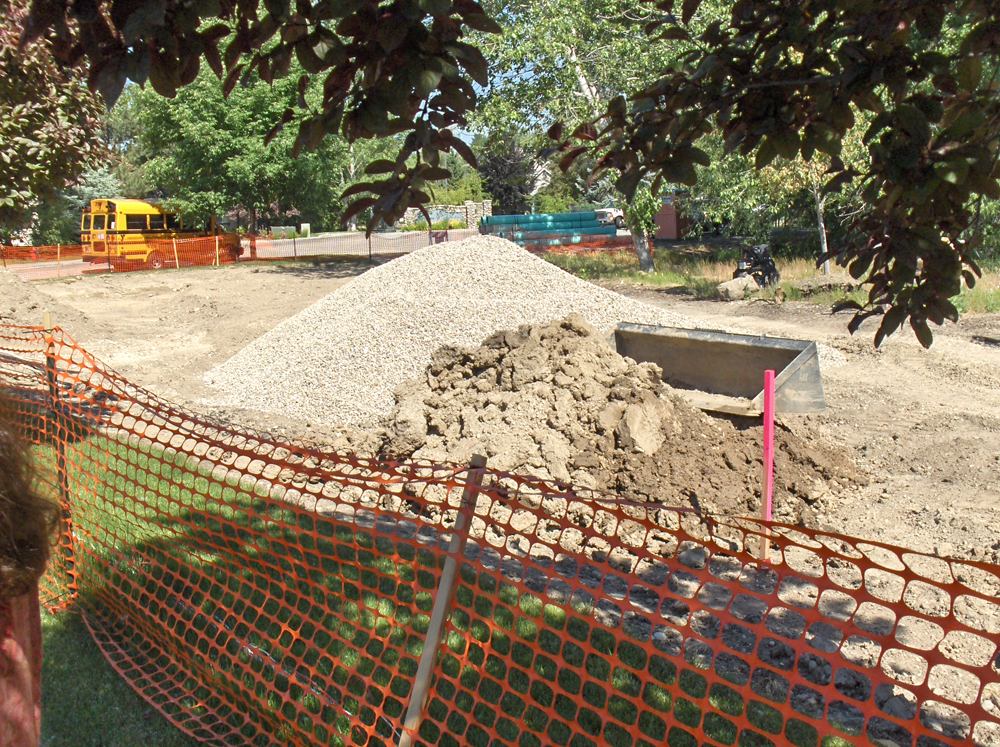 Garden City is building a bioswale to collect and filter storm-water runoff near City Hall. City officials said they hope their example will help lead the way toward better storm-water management throughout the Treasure Valley. (Photo by Page Warren)