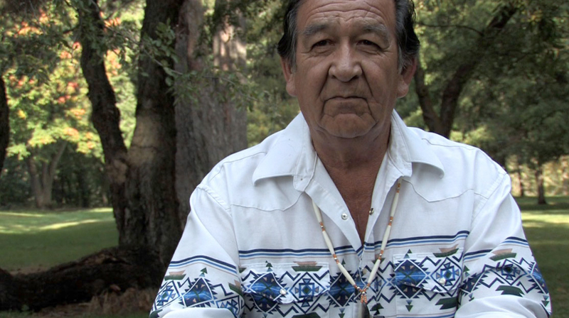 Nez Perce Tribal Elder Elmer Crow sat down with IRU in 2010 to share his passion for Idaho's endangered wild salmon. Elmer died Friday, July 26, while rescuing his grandson in the Snake River. (Photo by Skip Armstrong)