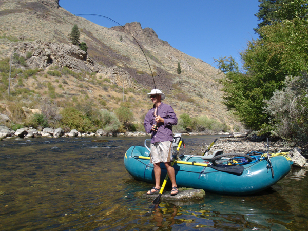 Mike Stone fishing the South Fork of the Boise River.