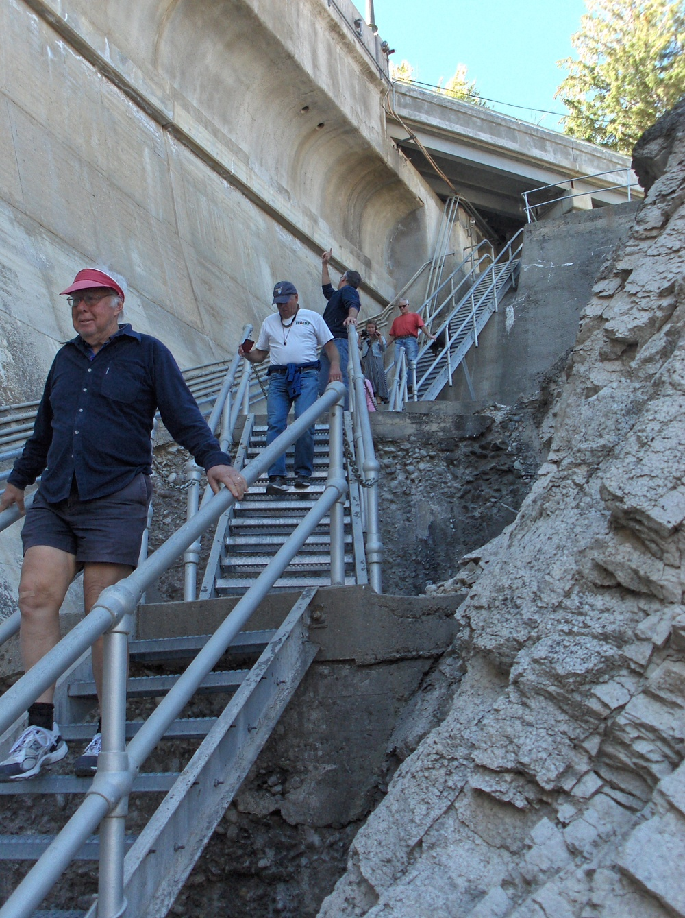 These folks are among the 25 IRU members who joined the tour of Arrowrock Dam Sept. 9.