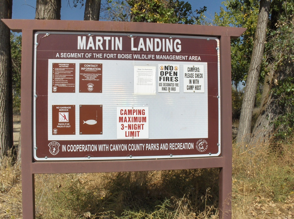 Day use and overnight camping are available at Martin Landing.