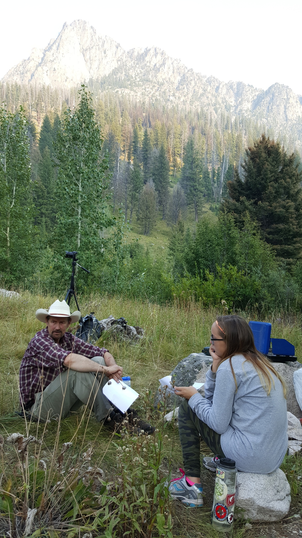 "Outdoor Idaho host Bruce Reichert takes a break in the Sawtooth Mountains near the headwaters of the Boise River during filming of ""Idaho's Headwaters"" in August 2015. Photo by Greg Stahl."