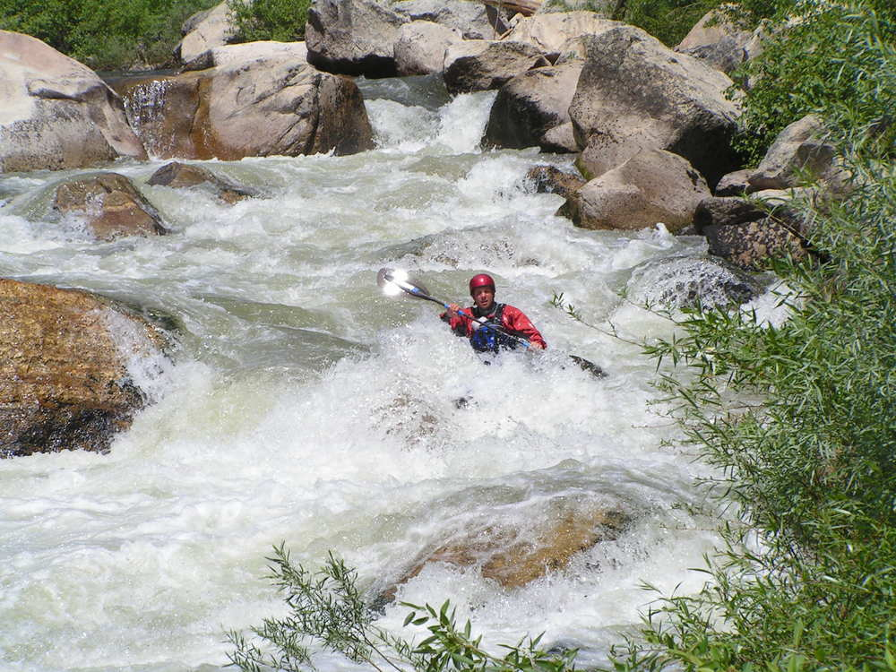 Greg Stahl paddling the Middle Fork of the Payette River in Idaho. Photo by Andrew Post.