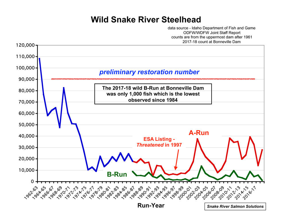 Graph by Bert Bowler, Snake River Salmon Solutions