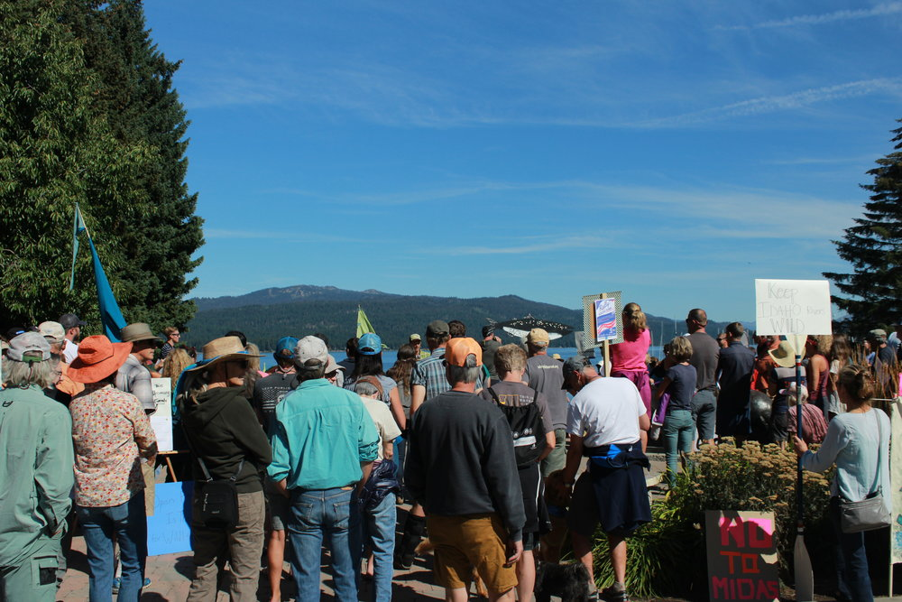 Engaged citizens rallied together on September 1st to speak out against Midas Gold's proposed mining project.