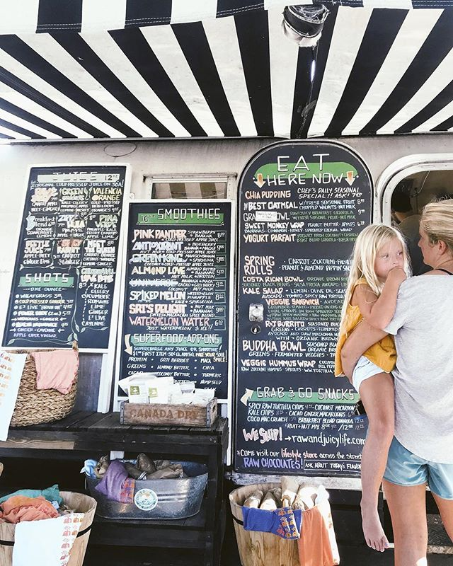 If you're around, be sure to stop by @rawandjuicy & give some love on their last day in Seaside. 🖤 If you're not able to show local love today, be sure to drop a comment below & share your love for the 10 years they have contributed their passion to a community that feels like a piece of home to us all.