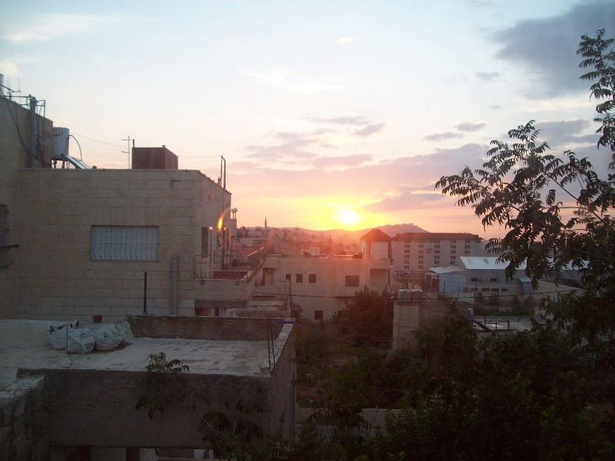 A sunrise over Bethlehem.