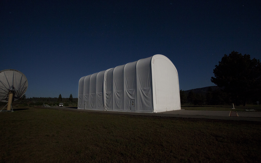 SETI S9. ATA Assembly Tent at Hat Creek under Full Moon.jpg
