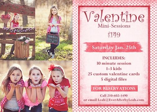 Valentines Mini Session Ad