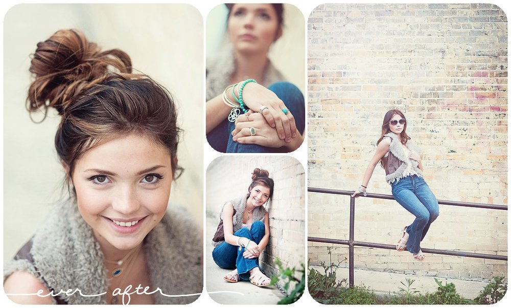 boho inspired senior styled portrait