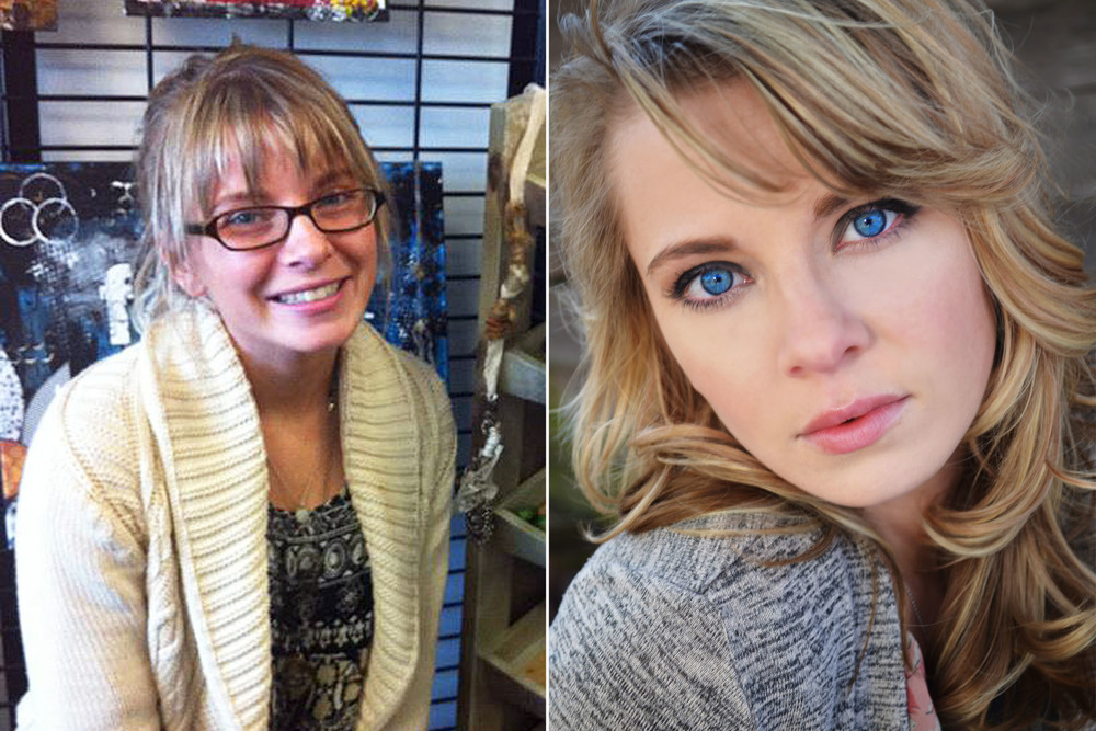 before after natural hair and makeup blonde elizabeth link denver