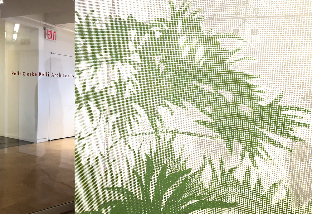 - A hand painted mural of the gardens designed by Balmori at Godrej Campus in Mumbai, India adorns the walls of Rafael Pelli's office in New York.Read more...