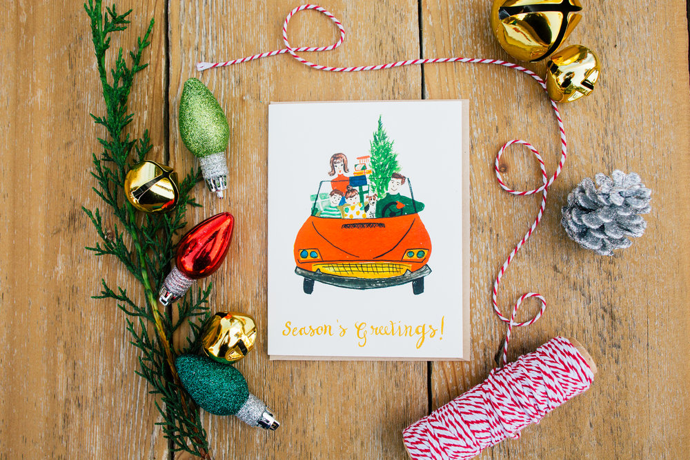 Merry Christmas Holiday Greeting Card