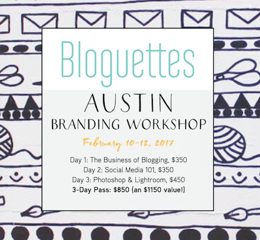 Bloguettes 3-Day Branding Workshop at The Paper + Craft Pantry, Ausitn