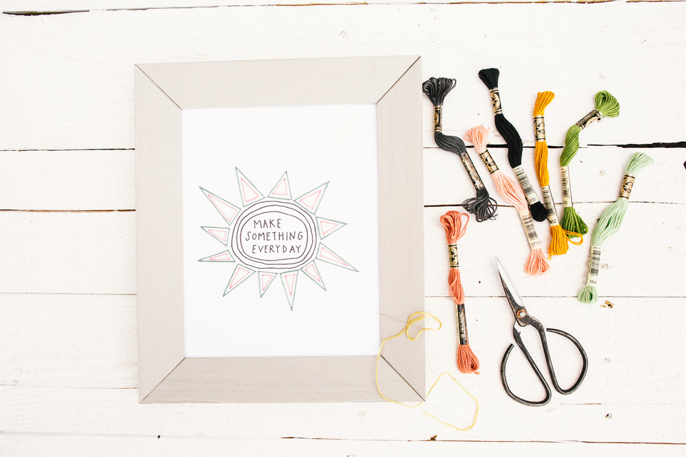 Printable Stitched Wall Art With Allie Biddle The Paper Craft