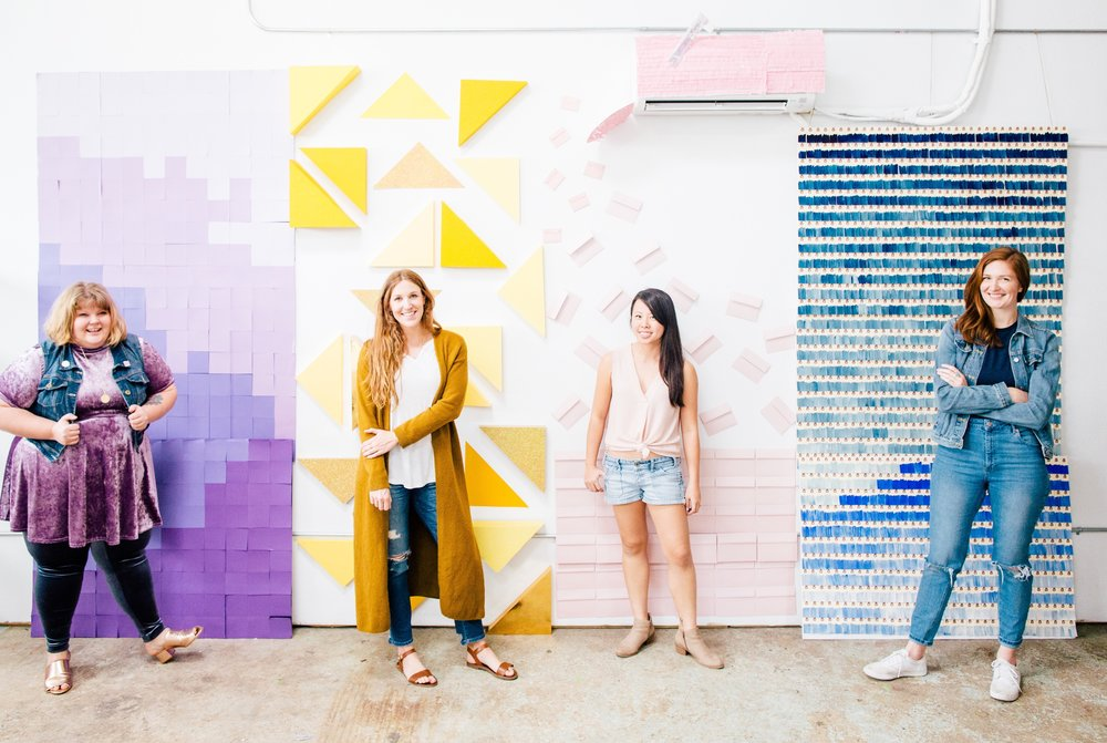 Paper Craft Pantry Paper Wall Art Installation Project Austin