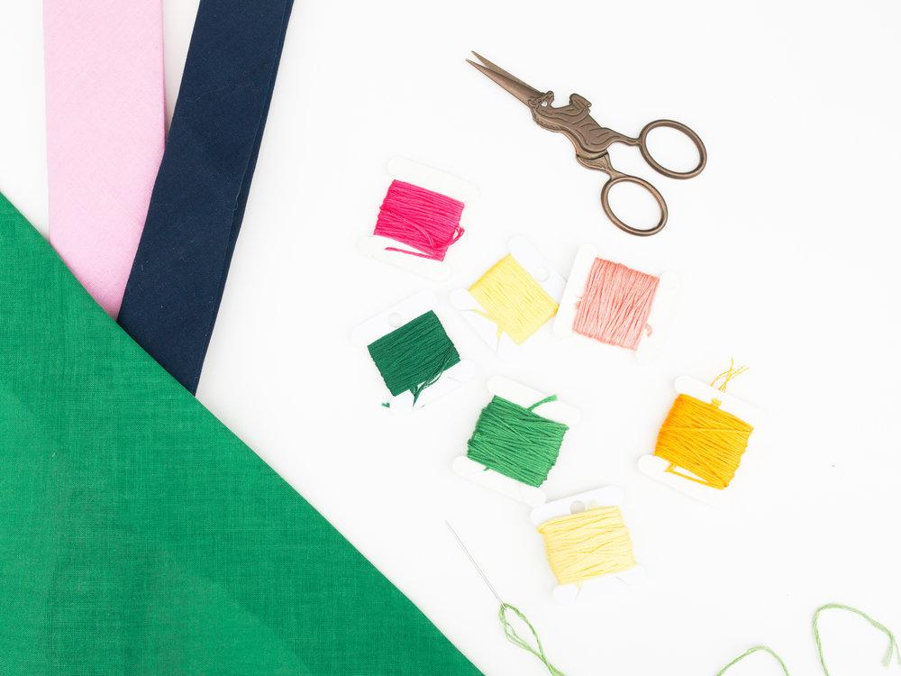 DIY Embroidered Summer Scarves