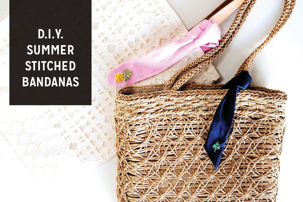 Do it Yourself Summer Stitched Bandana Accessory