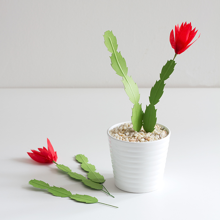 The Paper + Craft Pantry Christmas Round Up- The House That Lars Built: DIY Paper Christmas Cactus