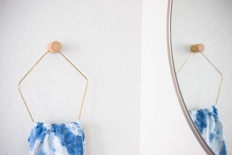 The Paper + Craft Pantry Christmas DIY Round Up-Live Free Miranda + Live Free Creative Blog Wood & Brass Towel Holder