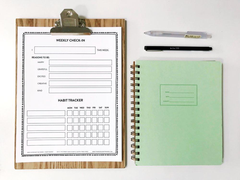 Paper Craft Pantry Free Printable Weekly Worksheet