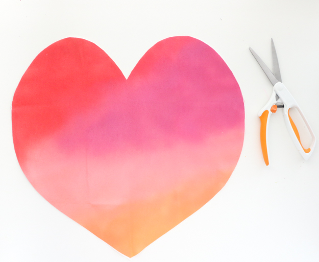 Paper Craft Pantry Blog: 2018 Valentine's D.I.Y Gradient Heart Pillow