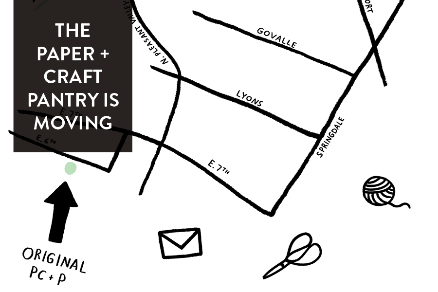 The Paper + Craft Pantry is moving to a new location in East Austin!