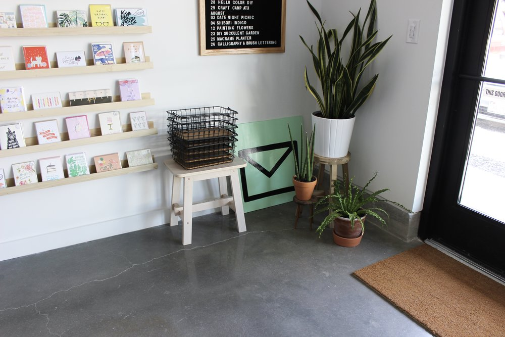 Paper + Craft Pantry Blog: Part of our bright and sunny shop entrance.