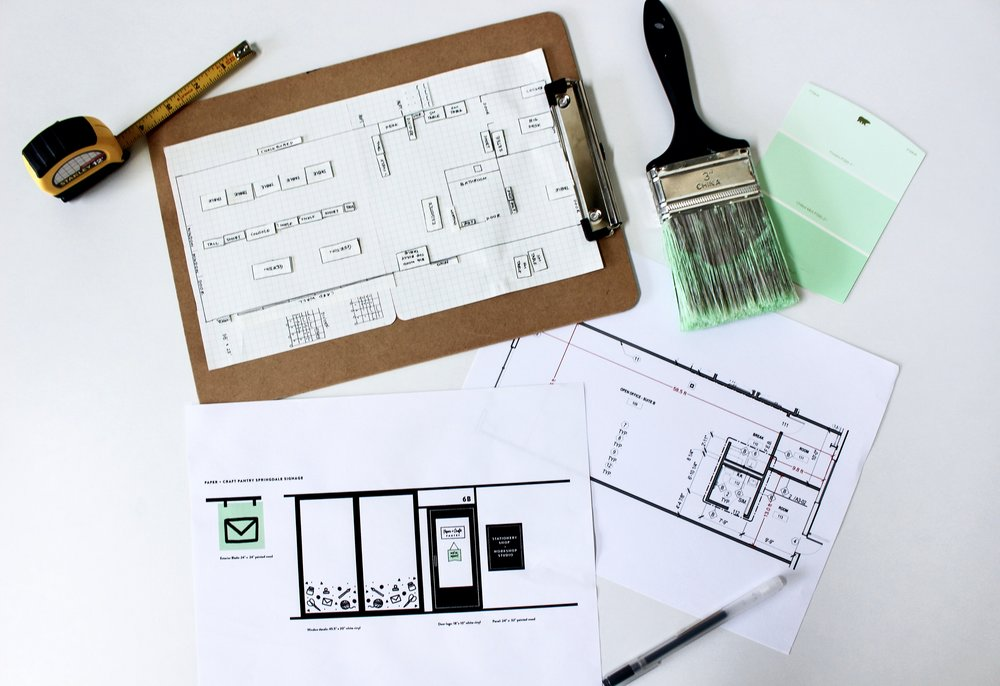 Paper Craft Pantry Blog: New shop layout + design plan.