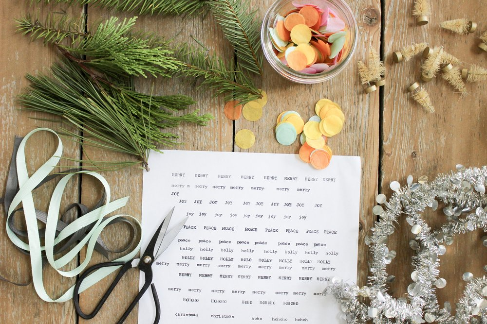 The Paper + Craft Pantry Blog: All of our supplies for the easy D.I.Y. ornaments.