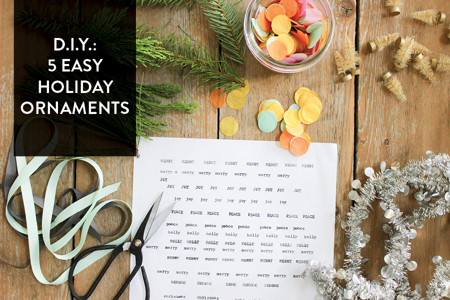 The Paper + Craft Pantry: Austin's D.I.Y. Blog- Holiday Ornament Craft