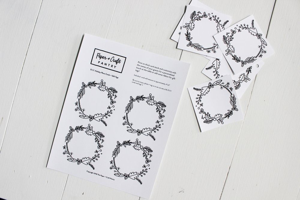 The Paper + Craft Blog: The printout before and after being cut for use.