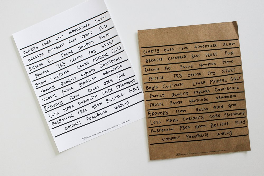 The Paper + Craft Pantry Blog: You can even print it on different paper.