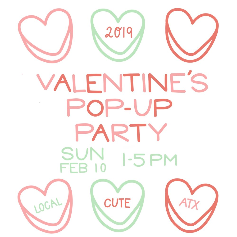 The Paper + Craft Pantry annual Valentine's Pop Up!