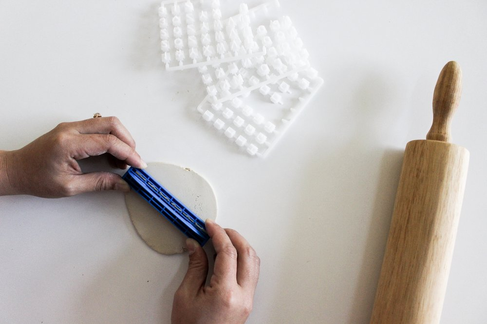 The Paper + Craft Pantry Blog: Using our clay lettering stamps to create our words!