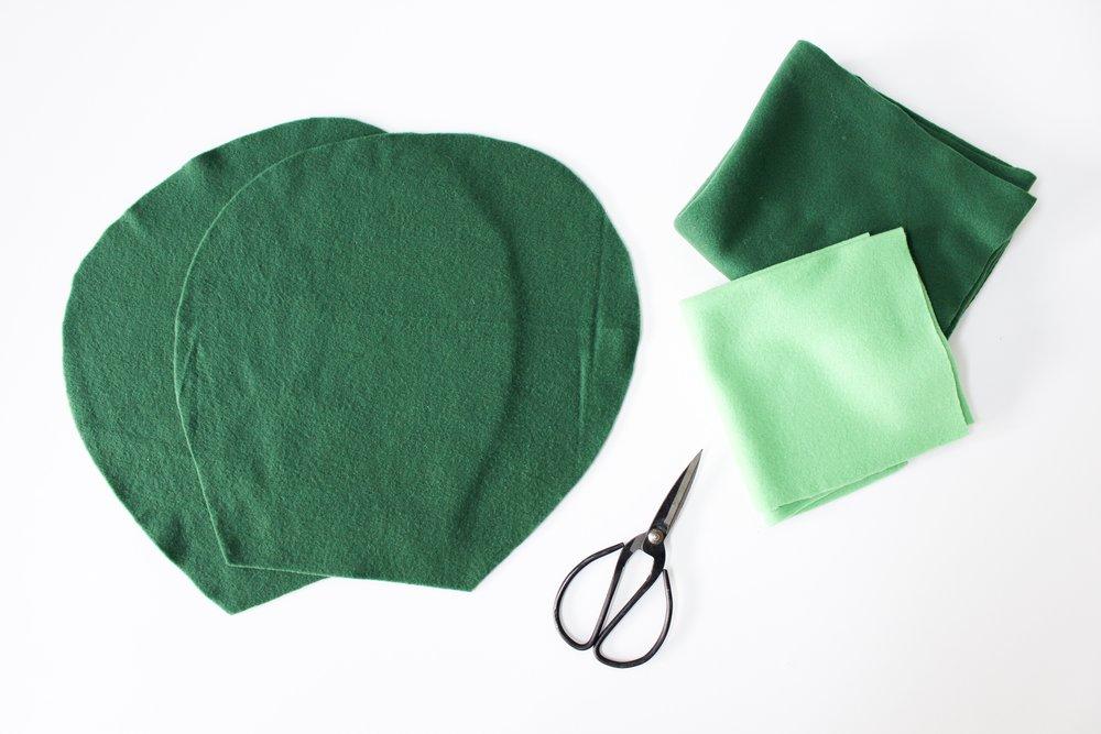 The Paper + Craft Pantry Blog: Felt cactus pillow supplies.