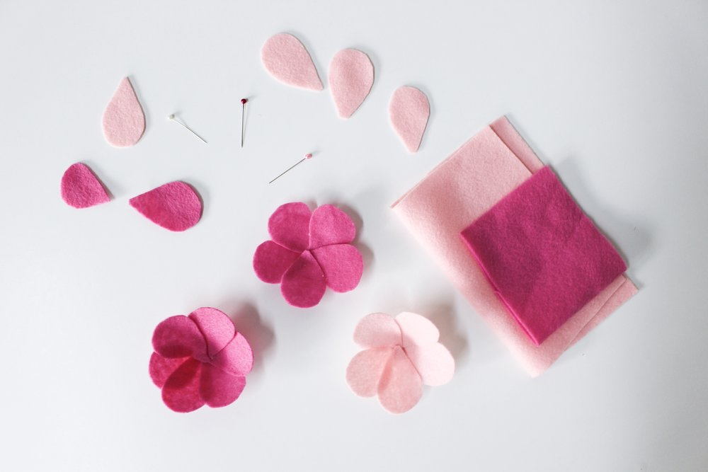 The Paper + Craft Pantry Blog: Felt flowers for cactus pillow d.i.y.