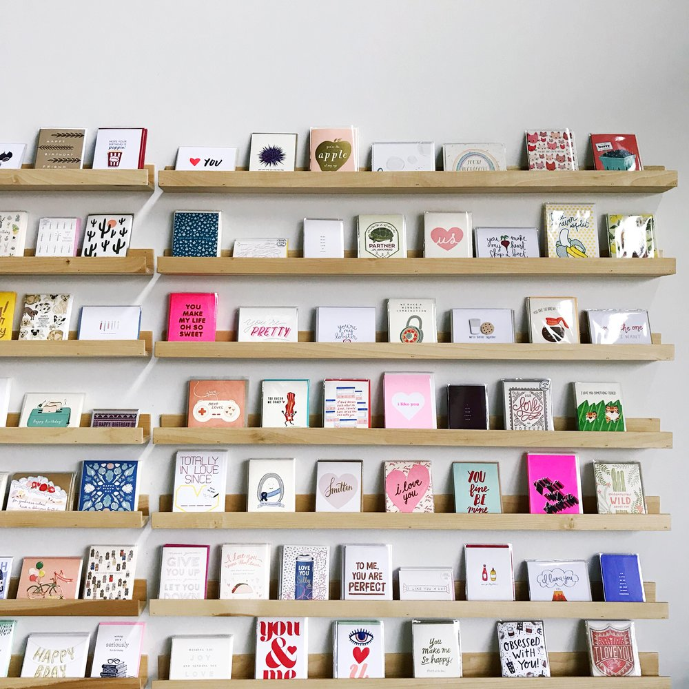 In case you missed it, we have over 300+ ways for you to send more snail mail on our shelves. From greeting cards to letter sets, we've got what you need to send more happiness out into the world and into the mailboxes of your loved ones :)