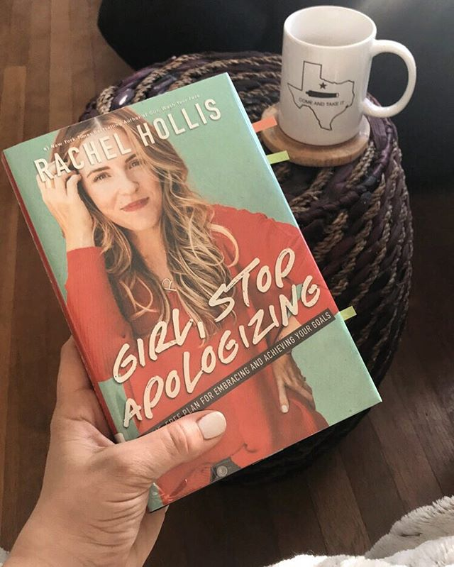 """1. This book is 🔥 2. I find it fitting to drink from my """"Come and Take It"""" coffee mug while reading this book ☕️ 3. Rachel and I have the same manicure 💅(I'm not obsessed or anything... 😂😁) . . . . #swhome #madeformore #girlstopapologizing #last90days #in90days #girlwashyourface #rise #rachelhollis #noshame #mugshot"""
