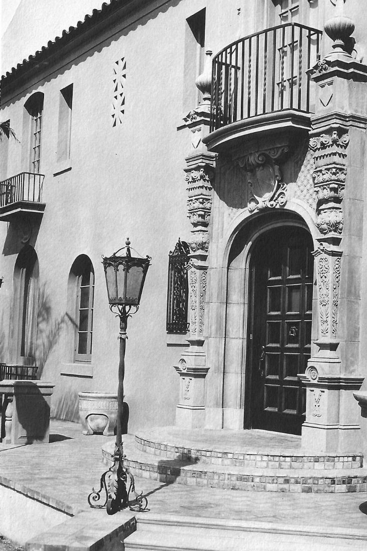 The Grand Entrance to the Villa Circa 1930.