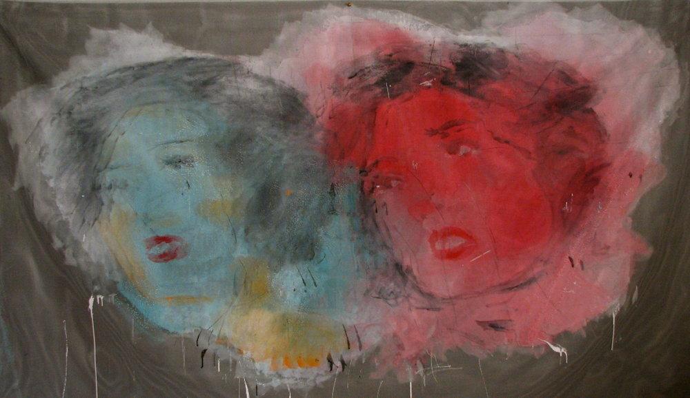 "Brett Green,  Untitled  (Detail), 2014, Acrylic on berglass screen, 48"" x 84"""