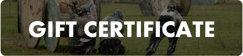 Paintball gift certificate for a birthday, holiday, or special occasion