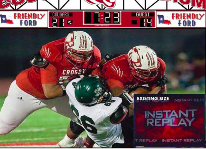 FOOTBALL: Crosby Set To Get New Video Board for 2016 Season The Lake Houston Observer May 11, 2016