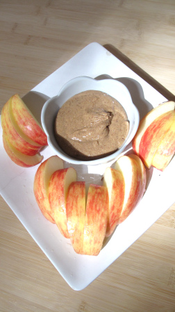 Homemade nut butters go with anything, but my favorite way to partake is with a freshly sliced honeycrisp apple.