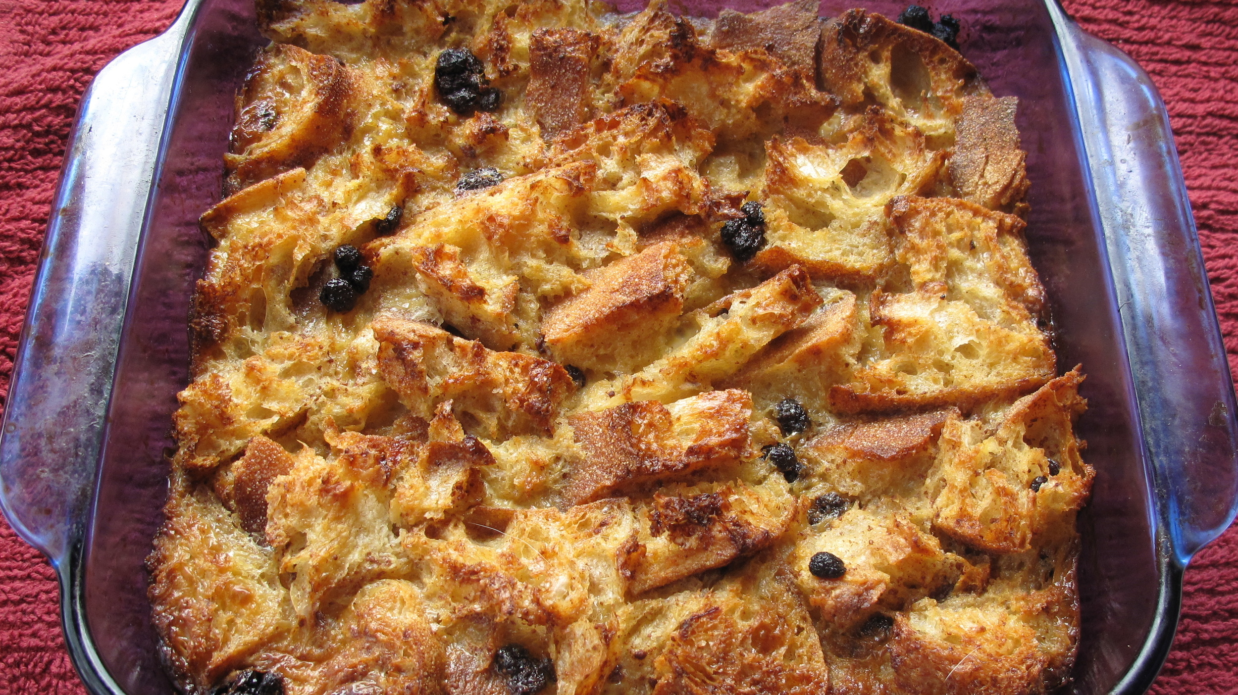Bread pudding offers simplicity and comfort in each bite.