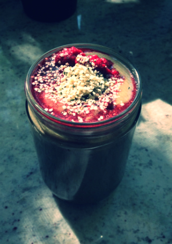 Get your fruits, veggies, protein and healthy fats from this delicious smoothie!