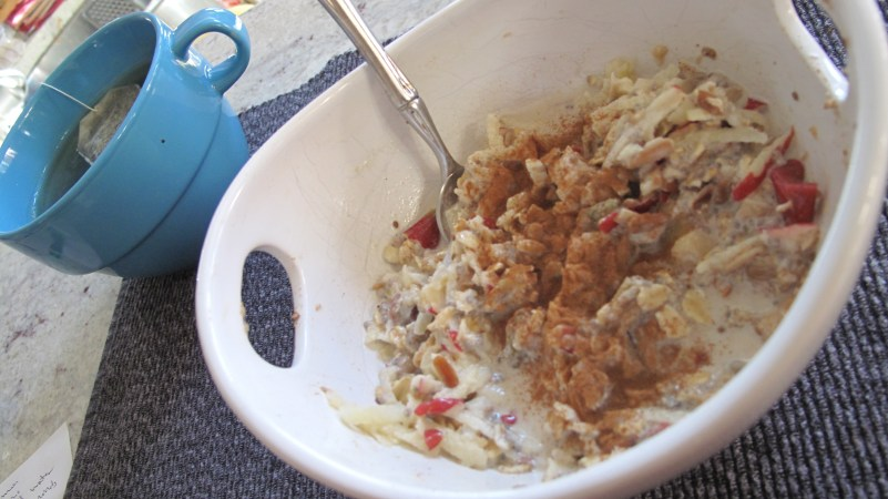 Try a bowl of traditional meusli as a breakfast, snack, or light dinner. One of the most nourishing comfort foods!