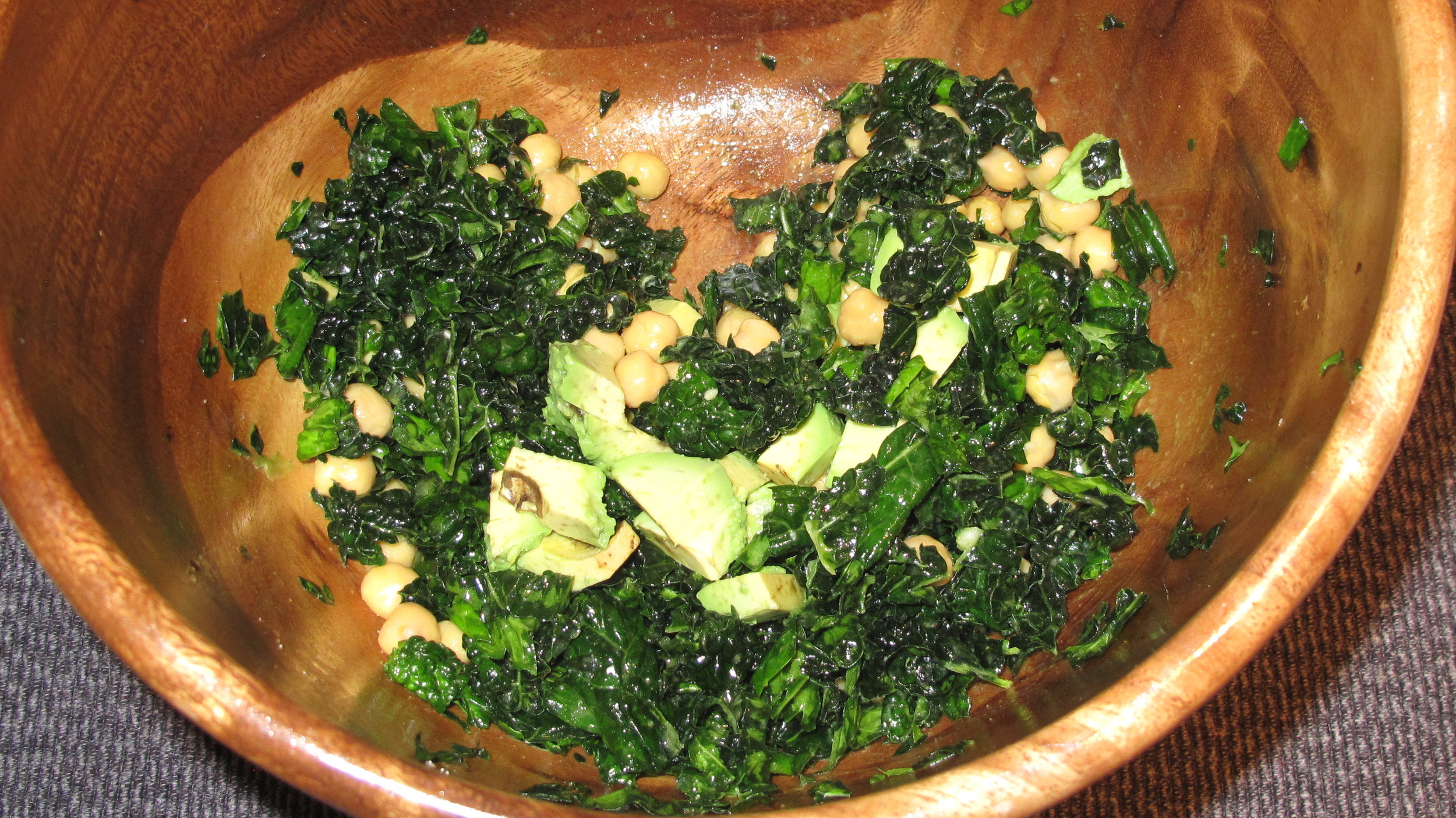 Connect with your food! Massage your kale to soften it, rather than dumping it in a frying pan.
