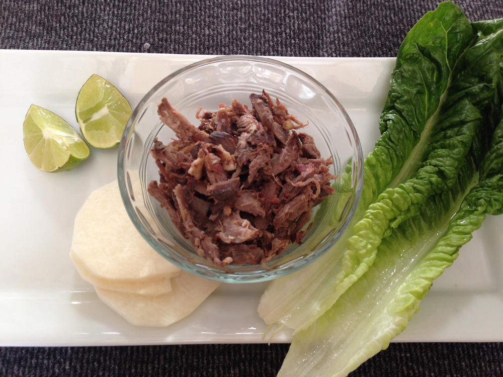 Enjoy this pulled pork in salads, wraps, tacos, or just by itself!